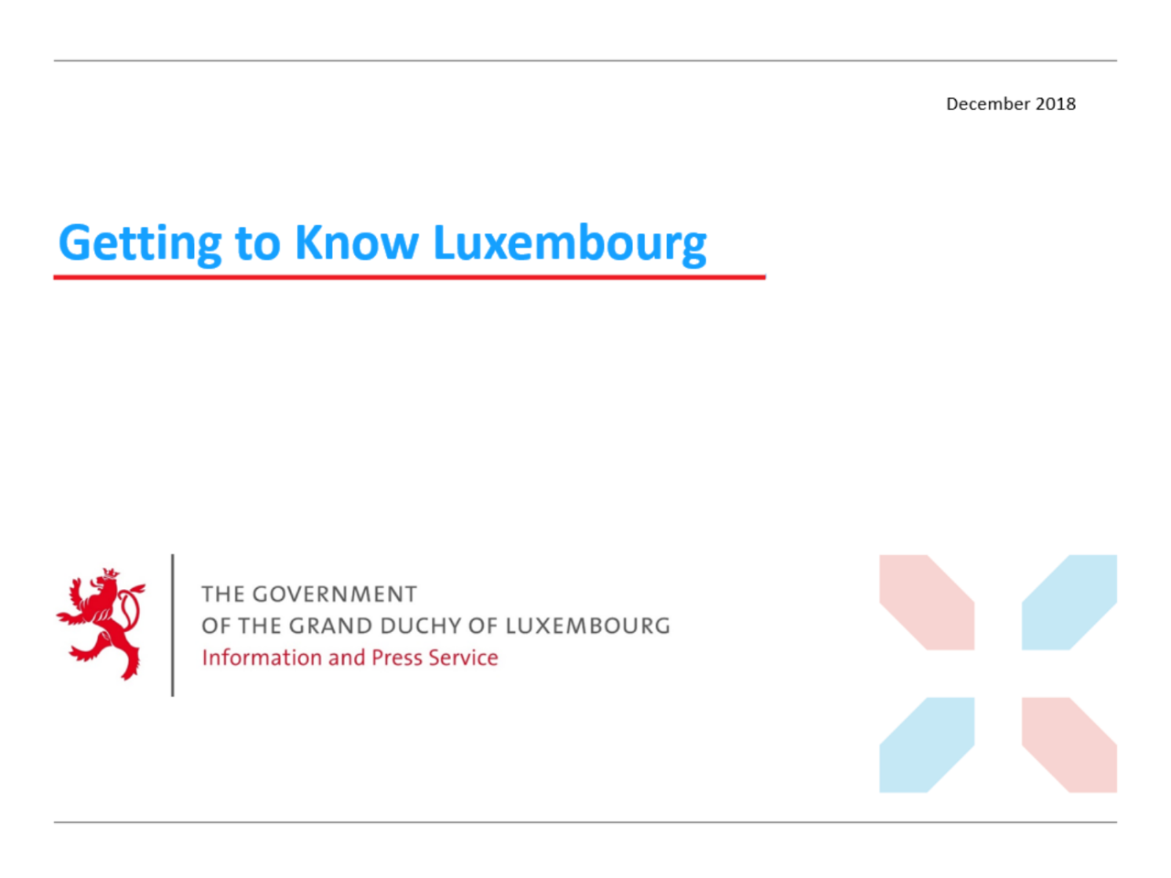 Getting to know Luxembourg (Power Point, 16.23 Mb) - New window